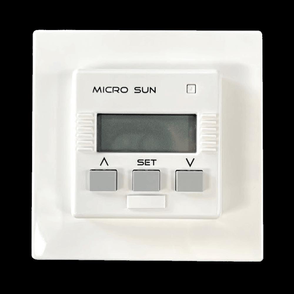 Zeitschaltuhr MICRO SUN | Automatisierung für Rollladen- & Markisenantriebe mit 50x50mm Rahmen