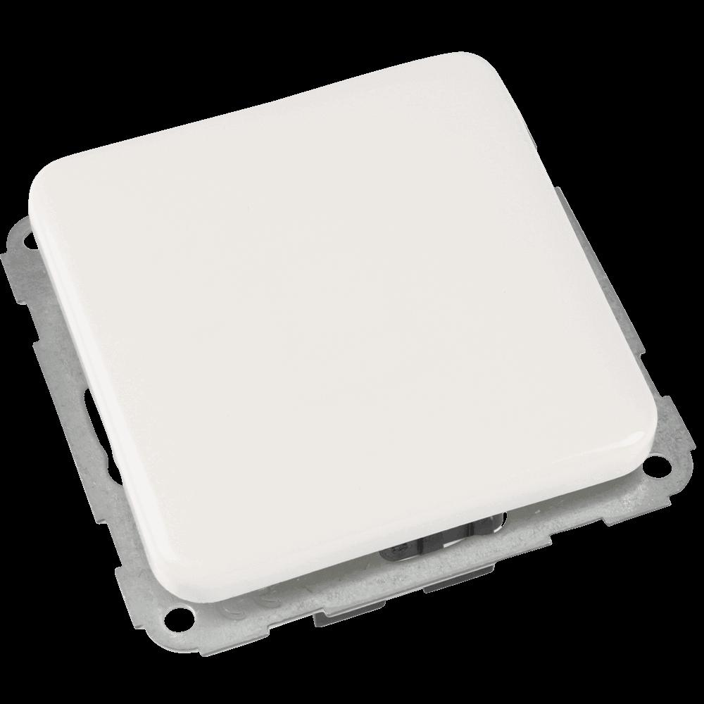 Lichtschalter einfach   Flächenwippschalter einfach passend für Rahmenserie VEDDER Regina