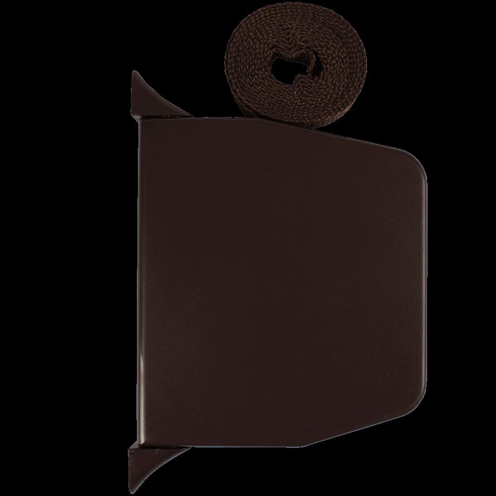 Gurtwickler mini AUFPUTZ   Aufputzgurtwickler in braun inkl. 14mm Gurt (braun), Lochabstand 15,3cm