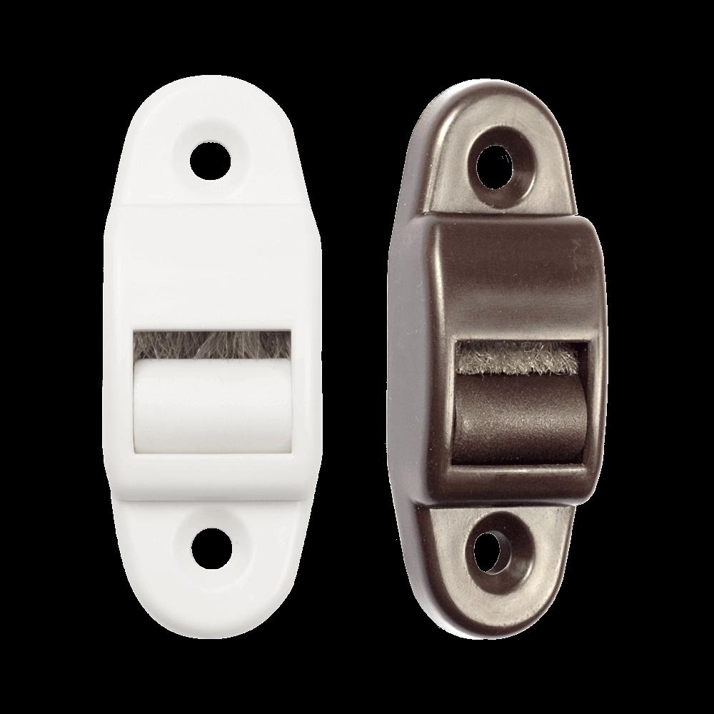 Gurtführung mini   Gurtführung mit Bürste für 14mm breites Gurtband, Lochabstand 40mm