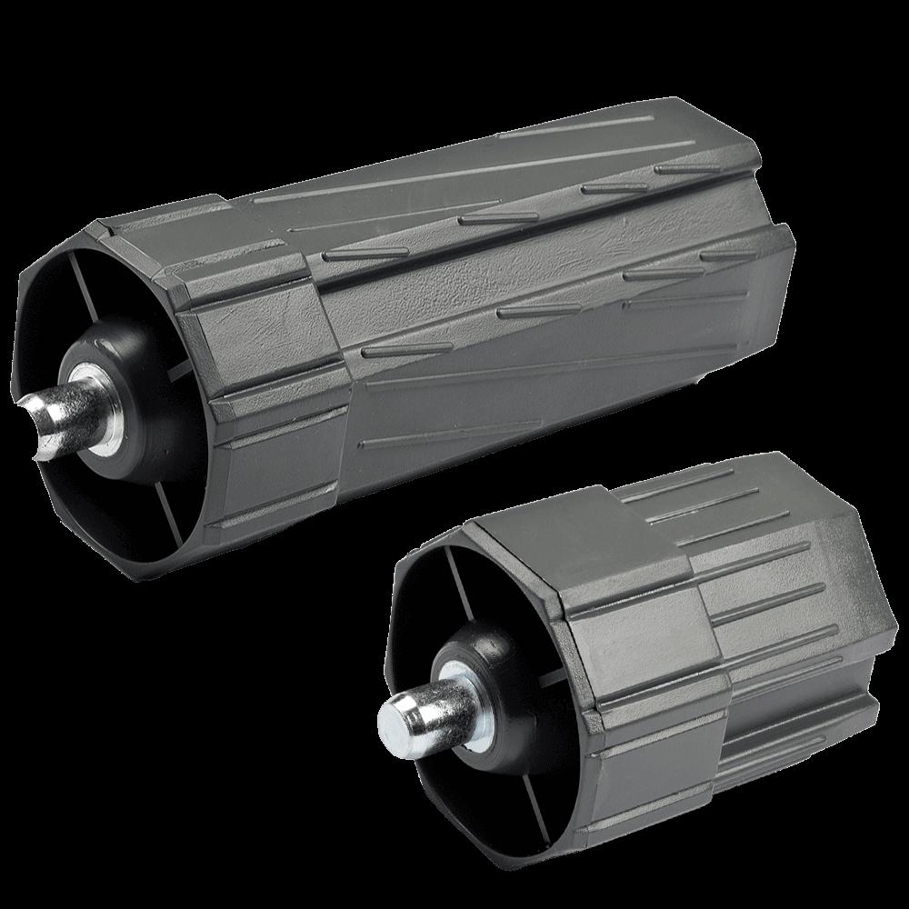 Walzenkapsel MAXI | aus PVC für 60mm 8-Kant Stahlwellen geeignet, Stahlstift Ø 12mm