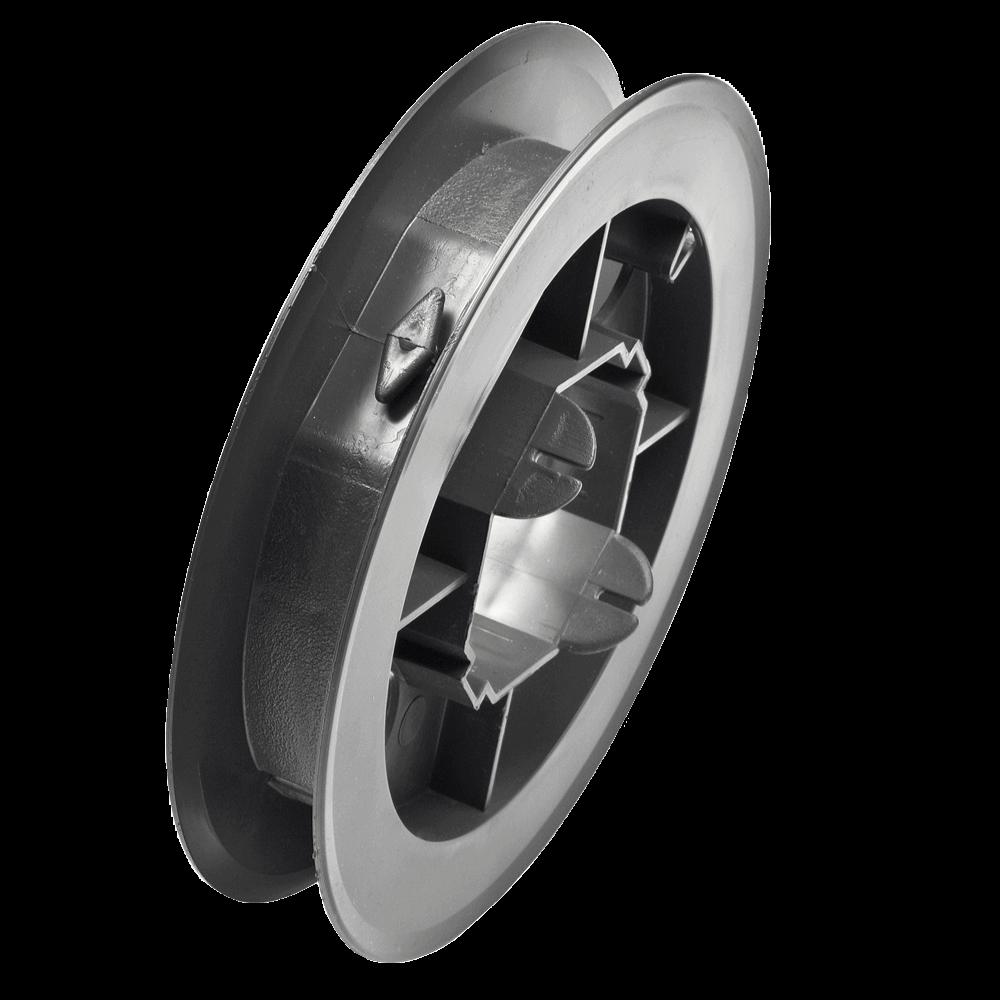 Gurtscheibe MAXI | aus PVC für 8-Kant Stahlwelle mit 60mm Schlüsselweite und 22-24mm breites Gurtband