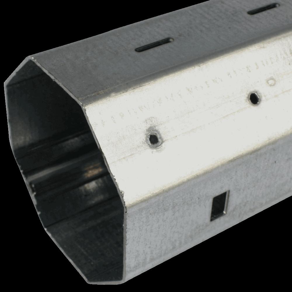 Stahlwelle MAXI 0,6mm   Wandstärke 0,6mm, 8-Kant Stahlwelle mit 60mm Schlüsselweite, galvanisch verzinkt