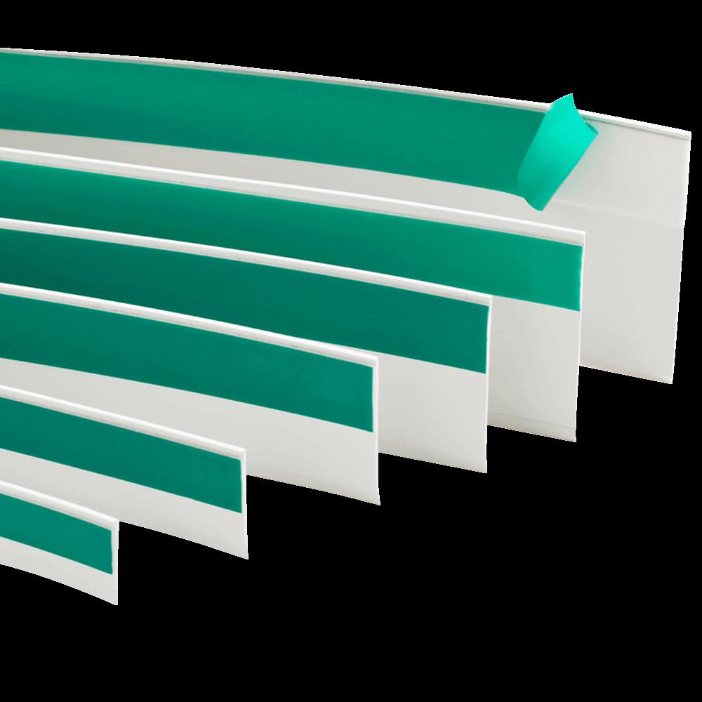 Flachleiste | selbstklebend mit Gummilippe Breiten 20mm - 80mm Längen 1m - 50m Abdeckung von Fugen und Rissen