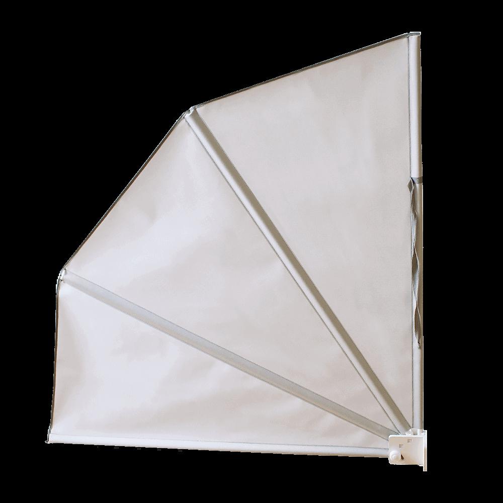 Wandklappschirm | effektiver, seitlicher Sonnen- & Sichtschutz, faltbar, in vielen verschiedenen Ausführungen