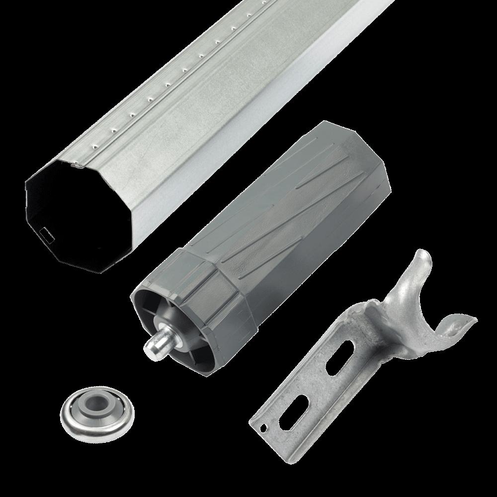 SET Zubehör MAXI inkl. Welle 0,6mm   alle Einbauteile für 2 Bausituationen Gurt- oder Motorantrieb