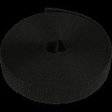 Farbiges Gurtband MAXI | 23mm breiter Gurt in schwarz als 6m Rolle