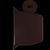 Gurtwickler mini AUFPUTZ | Aufputzgurtwickler in braun inkl. 14mm Gurt (braun), Lochabstand 15,3cm