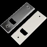 Abdeckungen Metall | Metallabdeckplatte verschied. Lochabstände 135mm - 215mm für Metallwickler