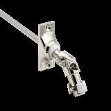 Gelenklagerplatte | Schwenkbereich 45° mit 6-Kant-Stift Ø 6mm in silber