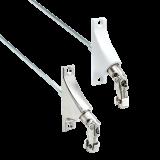 Gelenklagerplatte | Schwenkbereich 90° mit 6-Kant-Stift Ø 6mm in silber oder weiß