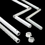 Kurbelstange | aus Aluminium als Ersatz, für Gelenklagerplatte mit 12mm Zapfen, silber eloxiert oder weiß