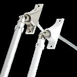 SET Kurbelstange | aus Aluminium inklusive Gelenklagerplatte 90° mit 4-Kant-Stift 6mm x 6mm