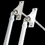 SET Kurbelstange | aus Aluminium inklusive Gelenklagerplatte 90° mit 6-Kant-Stift Ø 6mm
