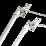 SET Kurbelstange | aus Aluminium inklusive Gelenklagerplatte 45° mit 4-Kant-Stift 6mm x 6mm