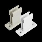 Kurbelhalter | praktische Wandhalterung für Kurbelstange, aus Kunststoff in weiß oder grau