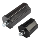 Walzenkapsel mini | aus PVC für 40mm 8-Kant Stahlwellen geeignet, Stahlstift Ø 9,8mm
