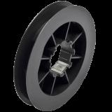 Gurtscheibe mini | aus PVC für 8-Kant Stahlwelle mit 40mm Schlüsselweite und 12-14mm breites Gurtband