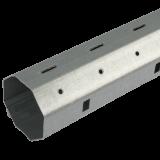 Stahlwelle mini | 8-Kant Stahlwelle mit 40mm Schlüsselweite, galvanisch verzinkt