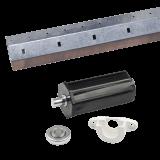 SET Zubehör mini inkl. Stahlwelle | passende Bauteile für 2 Bausituationen Gurt- oder Motorantrieb
