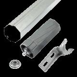 SET Zubehör MAXI inkl. Welle 1mm | alle Einbauteile für 2 Bausituationen Gurt- oder Motorantrieb