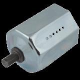 Walzenkapsel MAXI | aus Metall für 60mm 8-Kant Stahlwellen geeignet, Stahlstift Ø 12mm