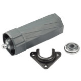 SET Zubehör MAXI [ 1 ] | für Umrüstung auf Motor, Anschraub-Kastenlager, Kugellager und Walzenkapsel MAXI im SET