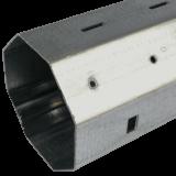 Stahlwelle MAXI 0,6mm | Wandstärke 0,6mm, 8-Kant Stahlwelle mit 60mm Schlüsselweite, galvanisch verzinkt