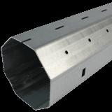 Stahlwelle MAXI 1mm | Wandstärke 1mm, 8-Kant Stahlwelle mit 60mm Schlüsselweite, galvanisch verzinkt