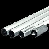 SET Stahlwelle MAXI | bis 240cm lange 8-Kant Stahlwelle mit 60mm Schlüsselweite inkl. Walzenkapsel MAXI