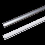 Abschlussleiste Vorhänge | mit praktischer Clip-Technik ohne Schrauben 60cm Standardbreite für Flächenvorhänge
