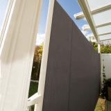 Seitenauszugmarkise | hochwertiger, seitlicher Sonnen- & Sichtschutz zum Ausziehen mit stabilem Gestell