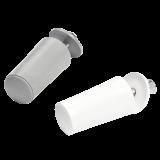 Anschlagstopper | mit Abdeckkappe gegen Ungeziefer, 40mm, weiß oder grau