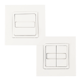 Wippschalter SOMFY SMOOVE | Bedienung für Rollladen & Markisen als Uno/ Duo (Nachfolger von Inis Uno/ Duo)